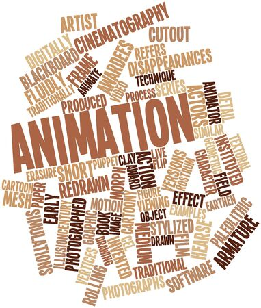 vertices: Abstract word cloud for Animation with related tags and terms