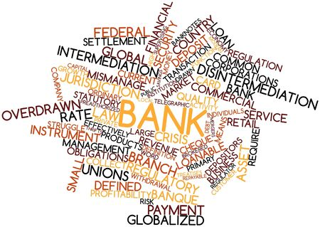 subordinated: Abstract word cloud for Bank with related tags and terms