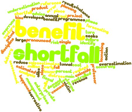 shortfall: Abstract word cloud for Benefit shortfall with related tags and terms