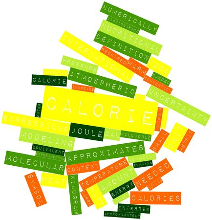 Abstract word cloud for Calorie with related tags and terms Stock Photo - 16413749