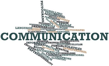 Abstract word cloud for Communication with related tags and terms