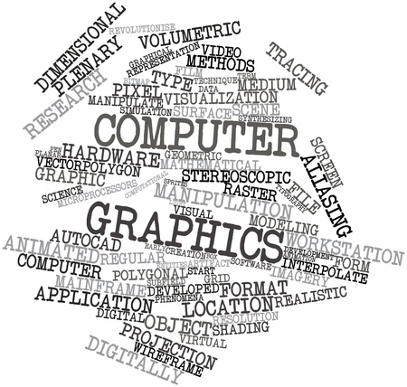 editing: Abstract word cloud for Computer graphics with related tags and terms