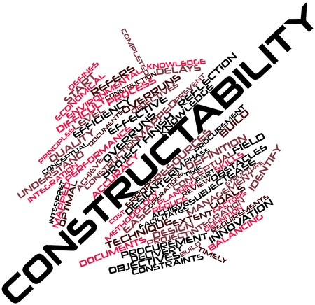 Abstract word cloud for Constructability with related tags and terms Stock Photo - 16414174