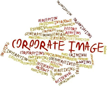 corporate image: Abstract word cloud for Corporate image with related tags and terms