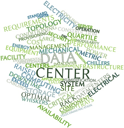 Abstract word cloud for Data center with related tags and terms Stock Photo - 16414197
