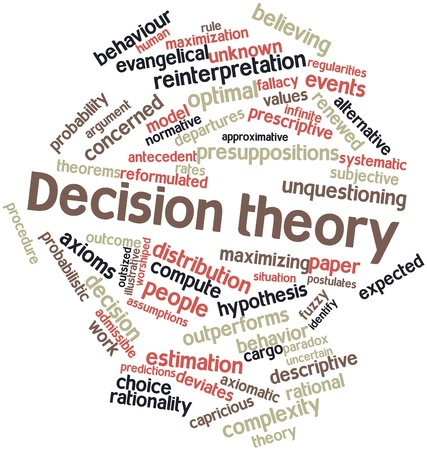 Abstract word cloud for Decision theory with related tags and terms Stock Photo - 16414393
