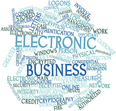 Abstract word cloud for Electronic business with related tags and terms Stock Photo - 16414066