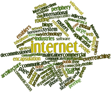 censorship: Abstract word cloud for Internet with related tags and terms
