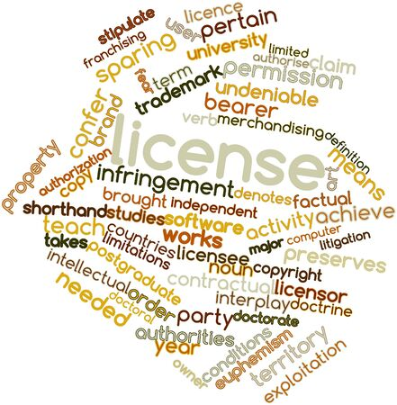 major: Abstract word cloud for License with related tags and terms