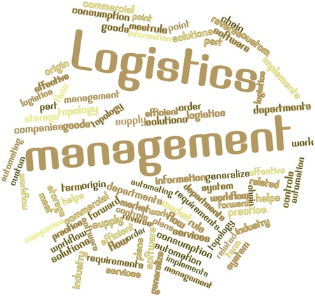 Abstract word cloud for Logistics management with related tags and terms Stock Photo - 16414356