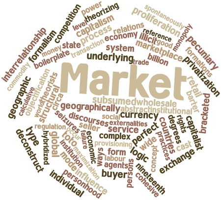 theorists: Abstract word cloud for Market with related tags and terms