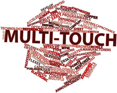 multitouch: Abstract word cloud for Multi-touch with related tags and terms