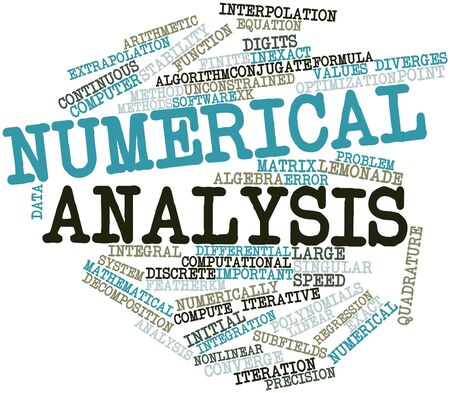 algebraic: Abstract word cloud for Numerical analysis with related tags and terms