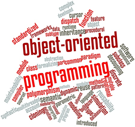 Abstract word cloud for Object-oriented programming with related tags and terms