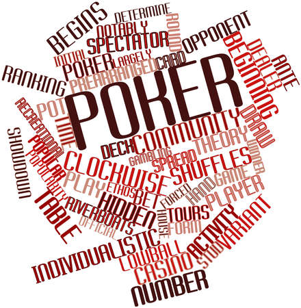 televised: Abstract word cloud for Poker with related tags and terms Stock Photo