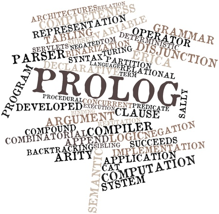 Abstract word cloud for Prolog with related tags and terms