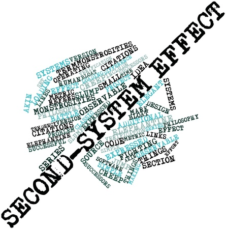 monstrosities: Abstract word cloud for Second-system effect with related tags and terms