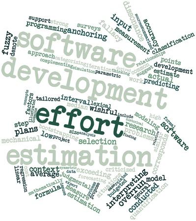 exceeding: Nube palabra abstracta para la estimaci�n del esfuerzo de desarrollo de software con las etiquetas y t�rminos relacionados