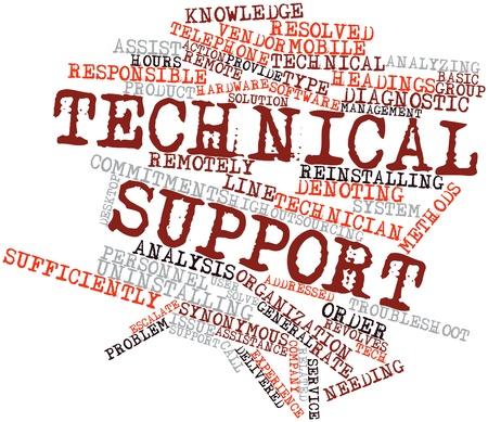 synoniem: Abstract woordwolk voor technische ondersteuning met gerelateerde tags en voorwaarden