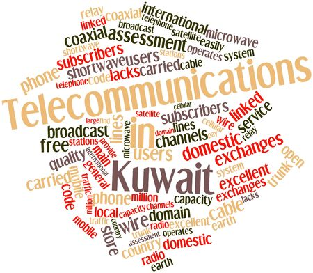 general store: Abstract word cloud for Telecommunications in Kuwait with related tags and terms