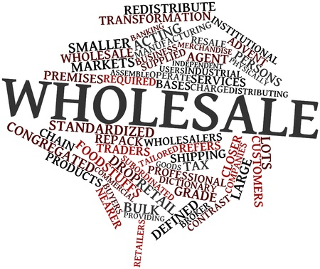 Abstract word cloud for Wholesale with related tags and terms Stock Photo - 16414336