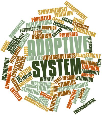 interdependent: Abstract word cloud for Adaptive system with related tags and terms