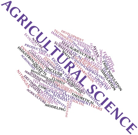 Abstract word cloud for Agricultural science with related tags and terms photo