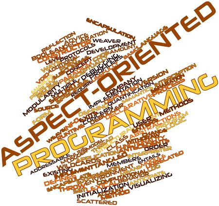 Abstract word cloud for Aspect-oriented programming with related tags and terms Stock Photo - 16414020