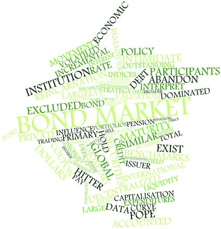 attempted: Abstract word cloud for Bond market with related tags and terms