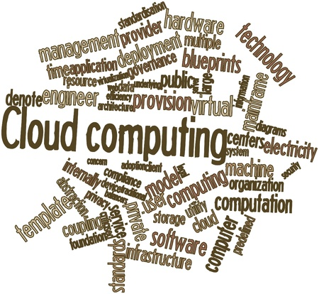 Abstract word cloud for Cloud computing with related tags and terms