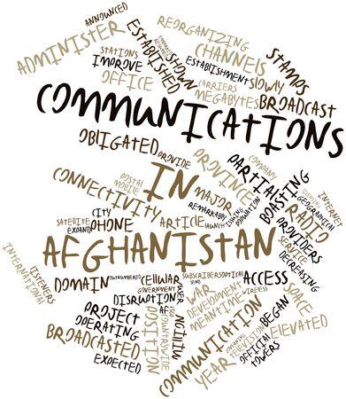 eingeschifft: Abstrakte Wortwolke f�r Kommunikation in Afghanistan mit verwandten Tags und Begriffe