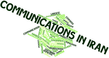 announced: Abstract word cloud for Communications in Iran with related tags and terms
