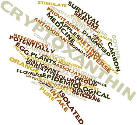 observational: Abstract word cloud for Cryptoxanthin with related tags and terms Stock Photo
