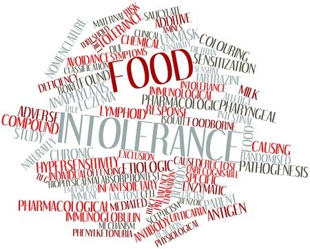 pokrzywka: Chmura słowo abstrakcyjne nietolerancji pokarmowej z powiązanych tagów oraz warunków