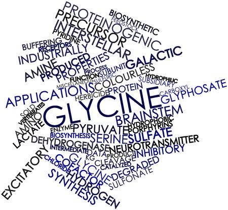 Abstrakt Wort-Wolke für Glycine mit verwandten Tags und Begriffe Standard-Bild - 16414146