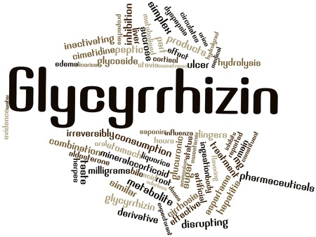 Abstract word cloud for Glycyrrhizin with related tags and terms Stock Photo - 16413688