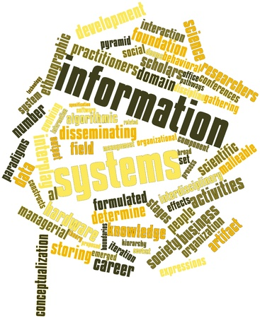 social gathering: Abstract word cloud for Information systems with related tags and terms