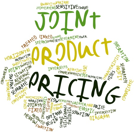 intersects: Abstract word cloud for Joint product pricing with related tags and terms Stock Photo
