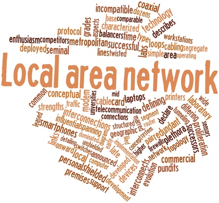 onward: Abstract word cloud for Local area network with related tags and terms