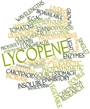 endometrial: Abstract word cloud for Lycopene with related tags and terms Stock Photo