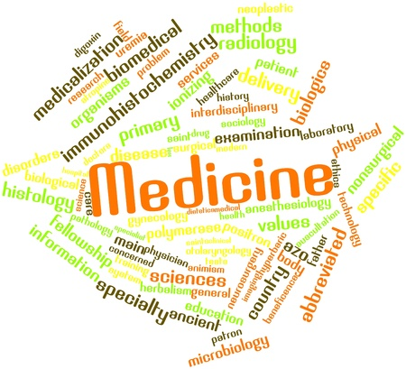 Abstract word cloud for Medicine with related tags and terms photo