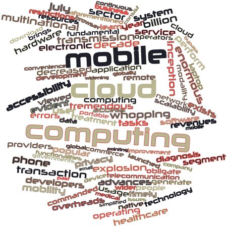 Abstract word cloud for Mobile cloud computing with related tags and terms Stock Photo - 16414131