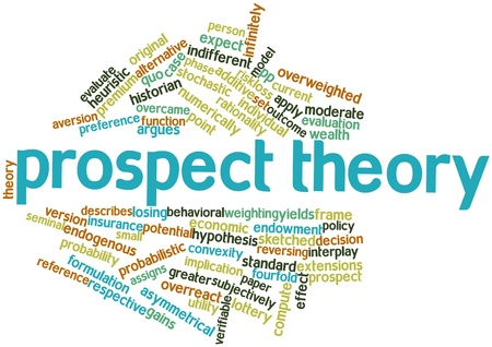 Abstract word cloud for Prospect theory with related tags and terms Stock Photo - 16413775
