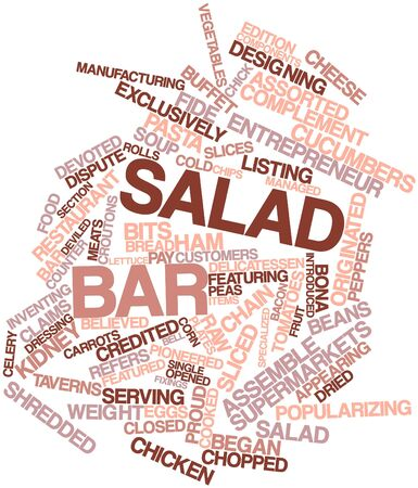 complement: Abstract word cloud for Salad bar with related tags and terms Stock Photo