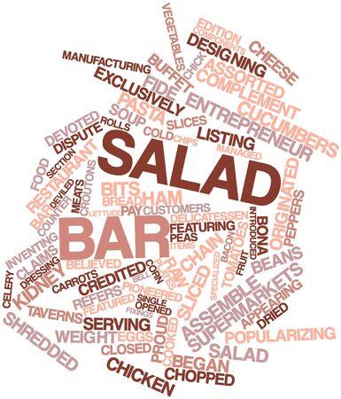 fiambres: Nube palabra abstracta para bar de ensaladas con las etiquetas y términos relacionados Foto de archivo