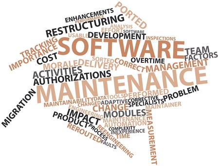 Abstract word cloud for Software maintenance with related tags and terms Stock Photo - 16413747