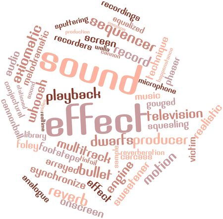 Abstract word cloud for Sound effect with related tags and terms Stock Photo - 16413764