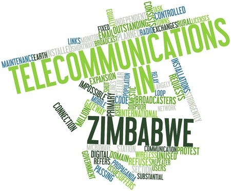 repeater: Abstract word cloud for Telecommunications in Zimbabwe with related tags and terms