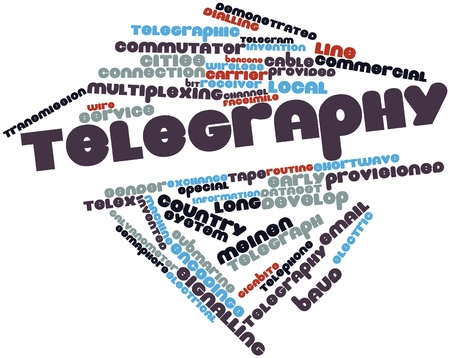 telegraphy: Abstract word cloud for Telegraphy with related tags and terms
