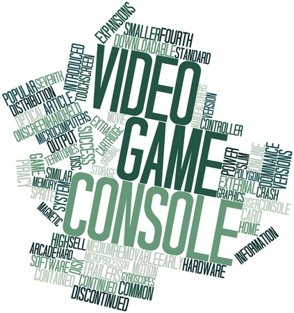 Abstract word cloud for Video game console with related tags and terms Stock Photo - 16414290